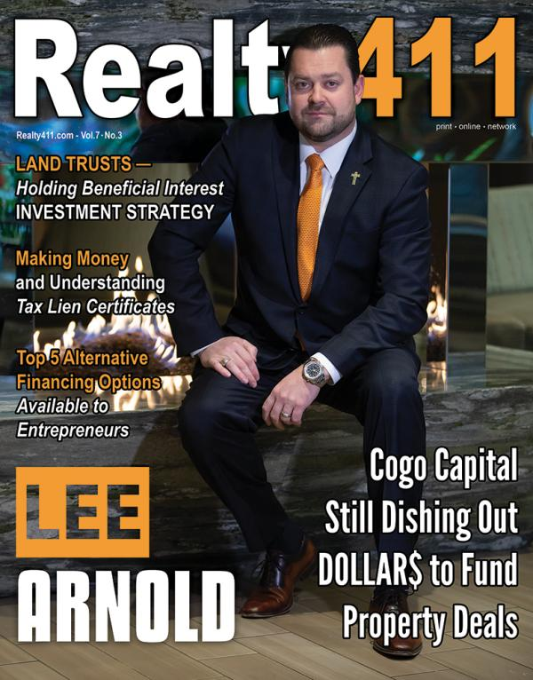 Realty411 Magazine Featuring Lee Arnold from Cogo Capital