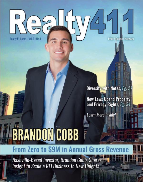 Realty411 Magazine - Featuring Brandon Cobb