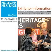 Museums + Heritage Show 2013 Brochure