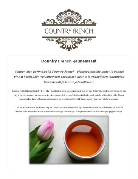 Country French -maalit Maalattuja kohteita