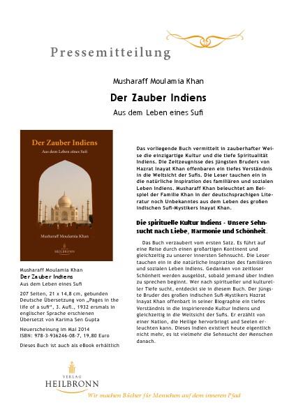 Verlag Heilbronn - Pressemitteilungen Der Zauber Indiens (Pressemitteilung)