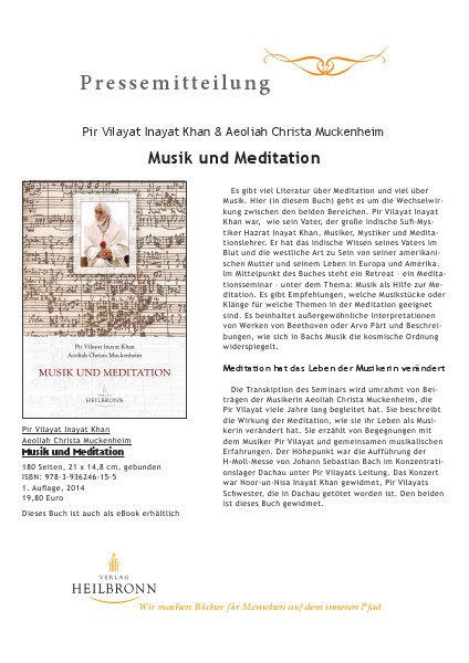 Verlag Heilbronn - Pressemitteilungen Musik und Meditation (Pressemitteilung)