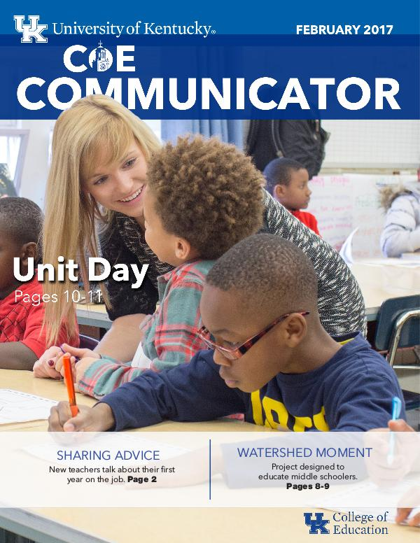 COE Communicator College of Education Communicator February 2017