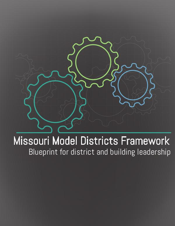 Missouri Model Districts Blueprint MMD Blueprint 5-15