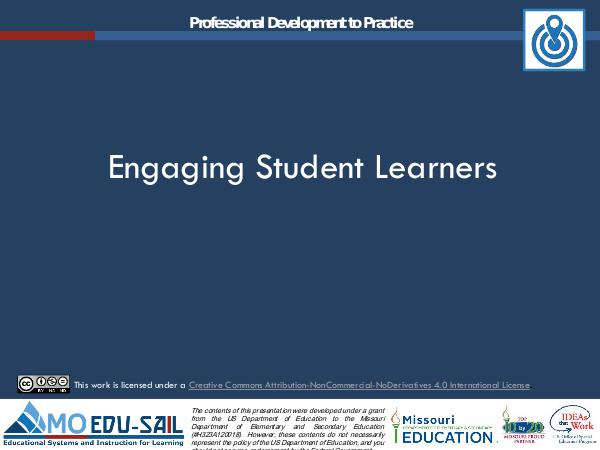 MO EDU-SAIL Learning Packages Engaging Student Learners