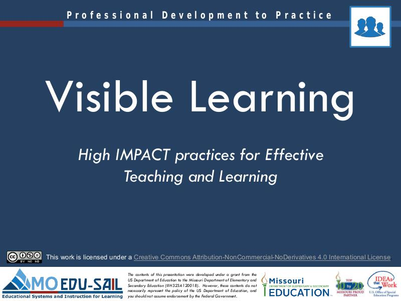 MO EDU-SAIL Learning Packages