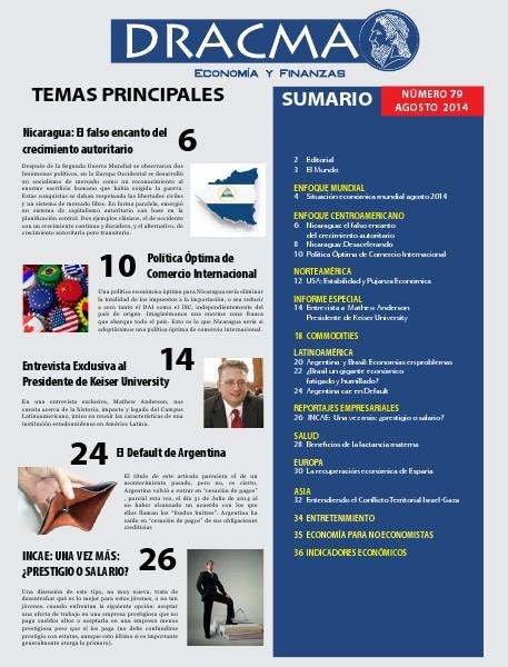 Revista Dracma   Edición Agosto