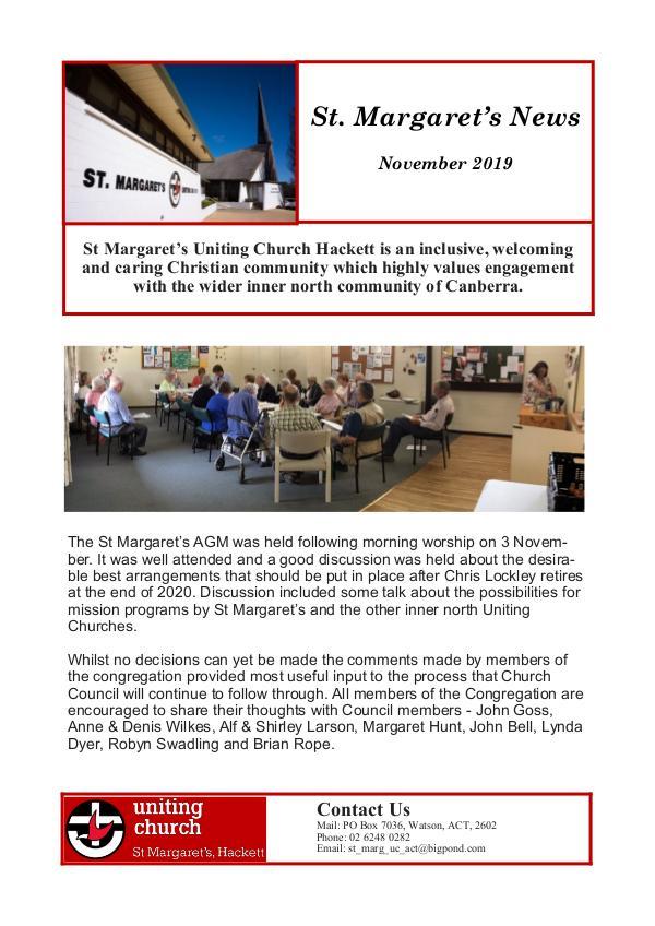 St Margaret's News November 2019