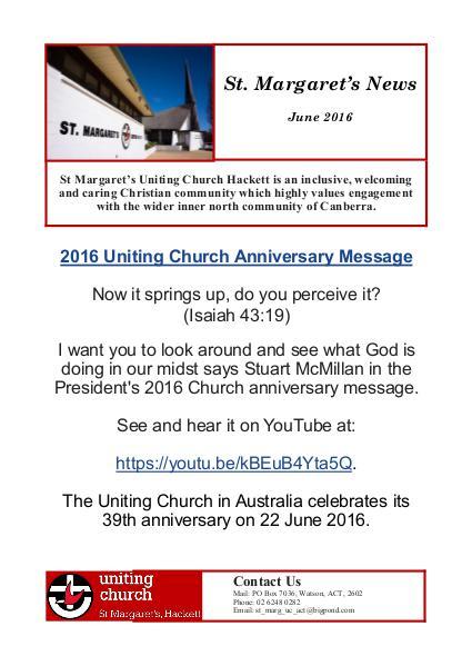 St Margaret's News June 2016