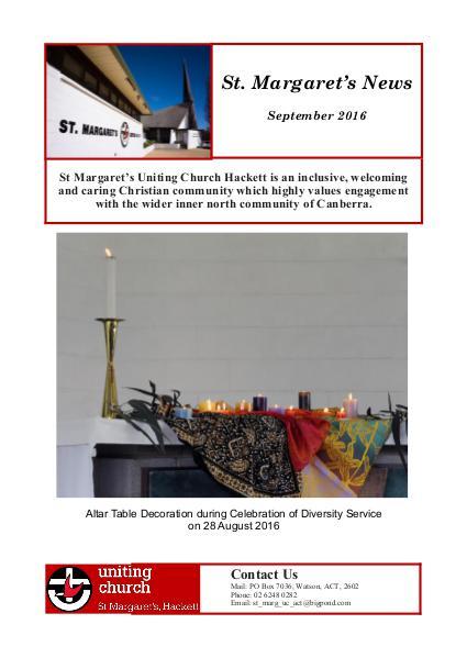 St Margaret's News September 2016