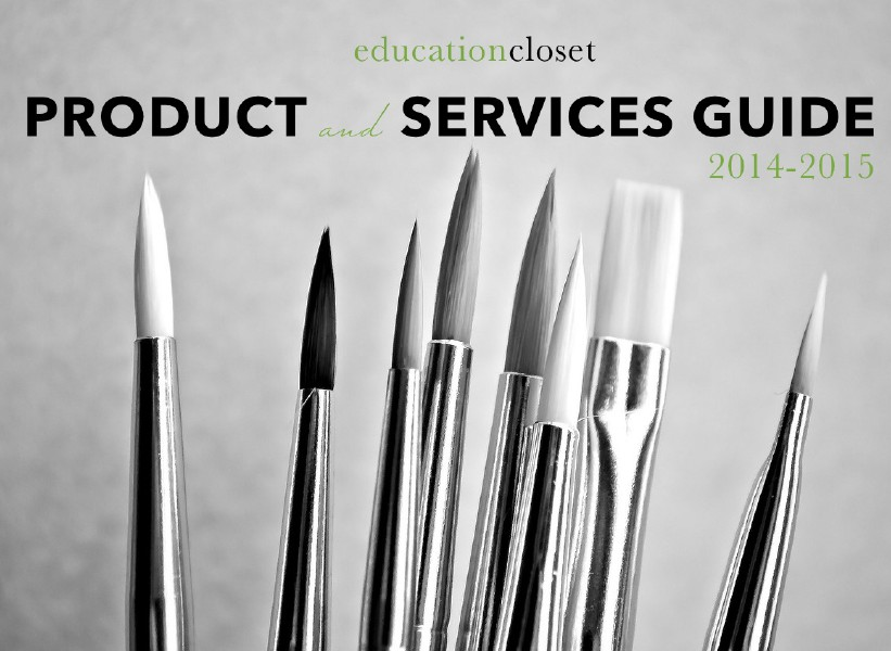 Product and Services Guide 2014-2015, Back to , Education Closet