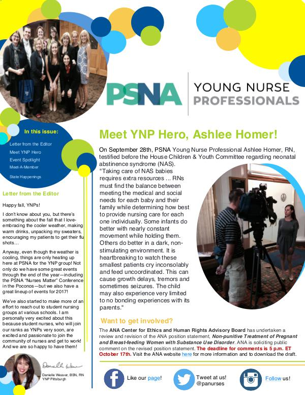 Young Nurse Professionals Issue 1(6)