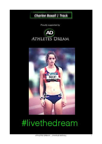 Athletes Dream Charlee Boxall | Track