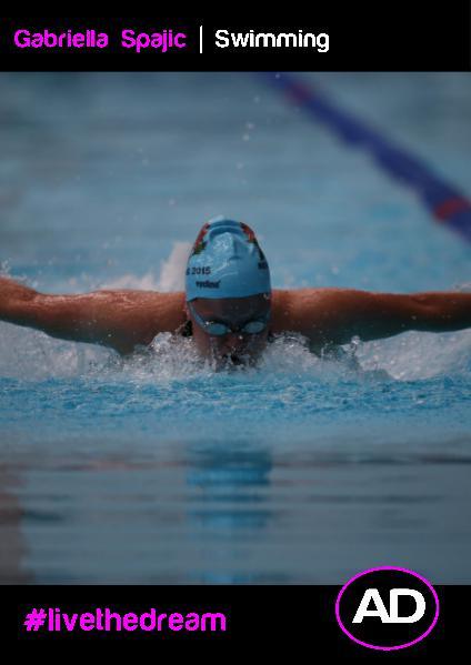 Athletes Dream Gabriella Spajic   Swimming