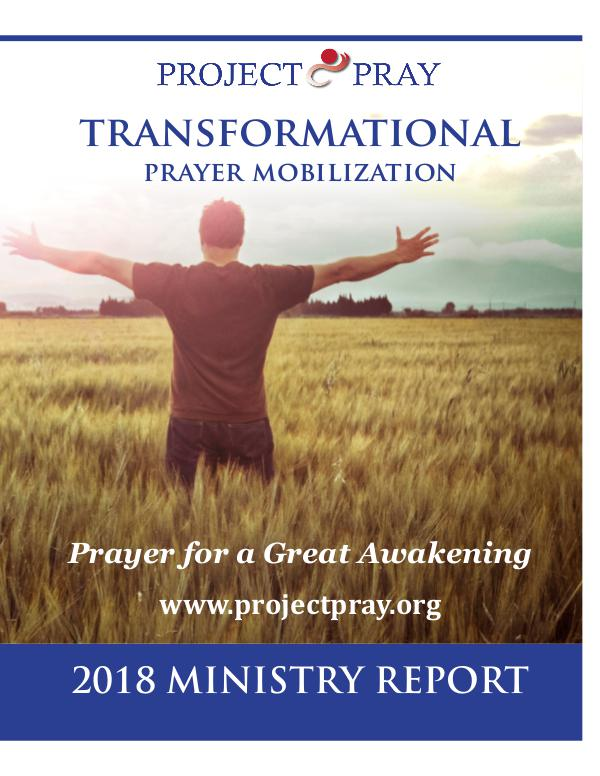 PROJECT PRAY Ministry Report 2018