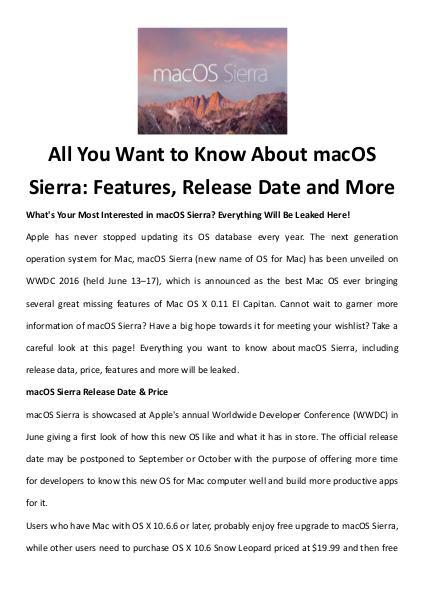 Multimedia Software Mac os sierra