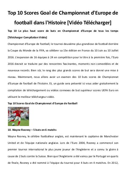 Multimedia Software Top 10 uefa euro goal scores