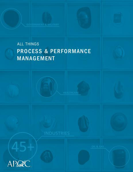 All Things Process & Performance Management October 2016