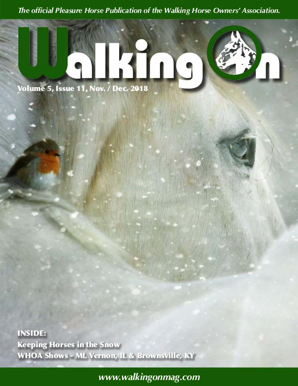 Walking On Volume 5, Issue 11, Nov. / Dec. 2018
