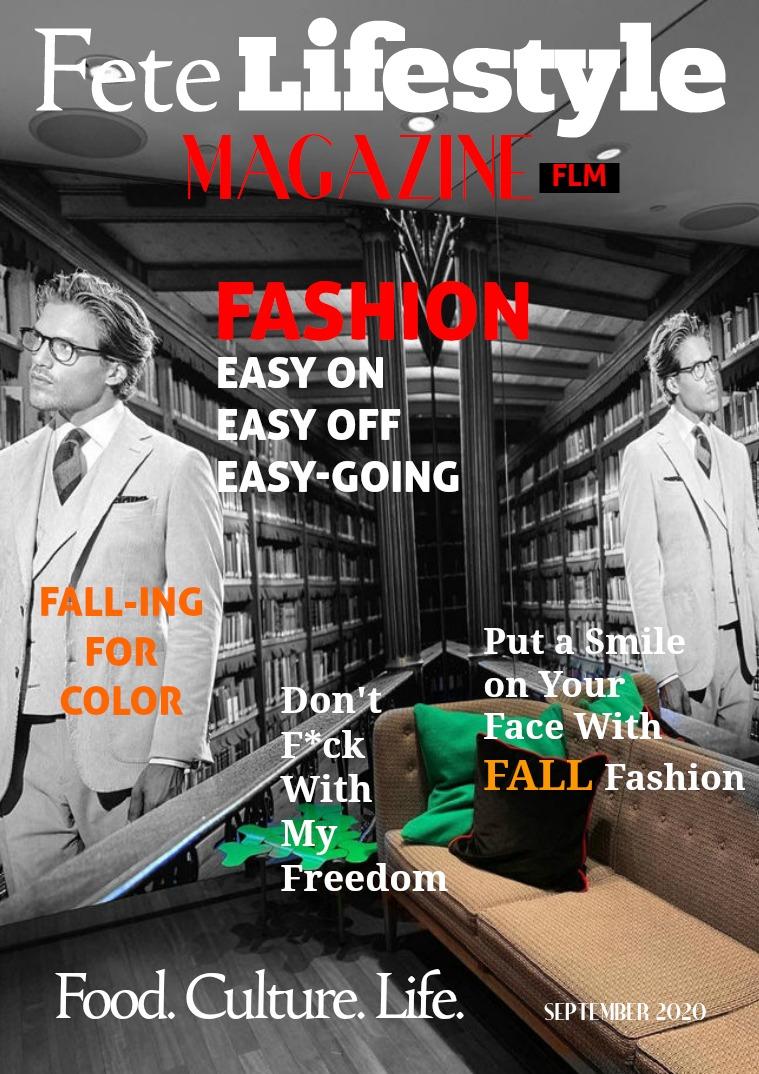 Fete Lifestyle Magazine September 2020 - Fall Fashion