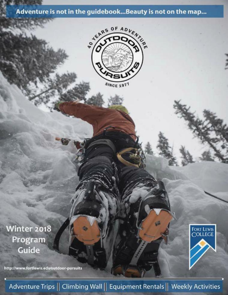 Outdoor Pursuits Program Guide Winter 2018