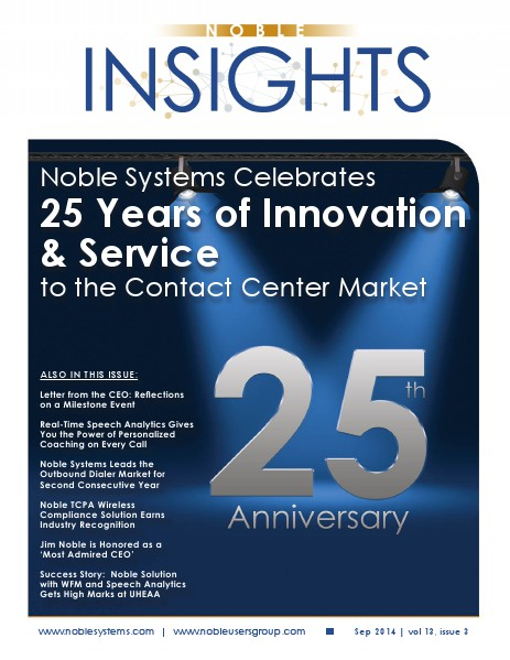 Noble Insights September 2014