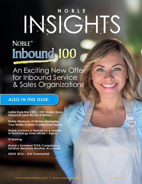Noble Insights March 2016