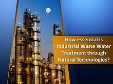 Industrial Waste Water Treatment through Natural Technologies