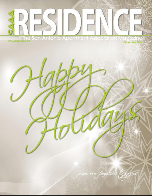 SAAA Residence Magazine December, 2020