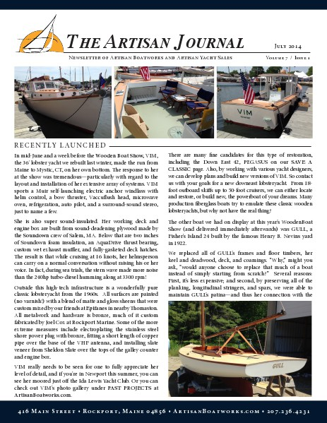 The Artisan Journal Volume 7 Issue 1