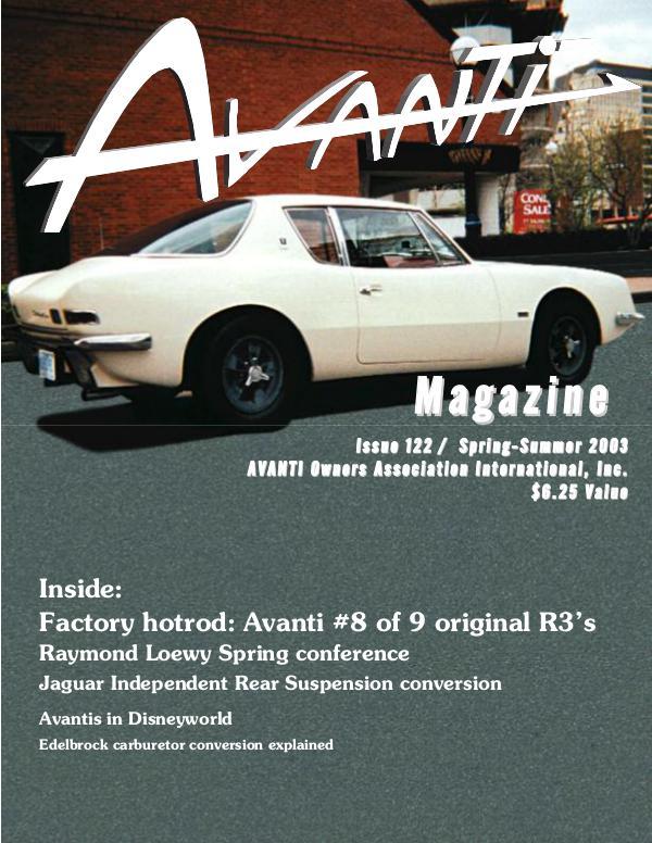Avanti Magazine Spring/Summer 2003 #122