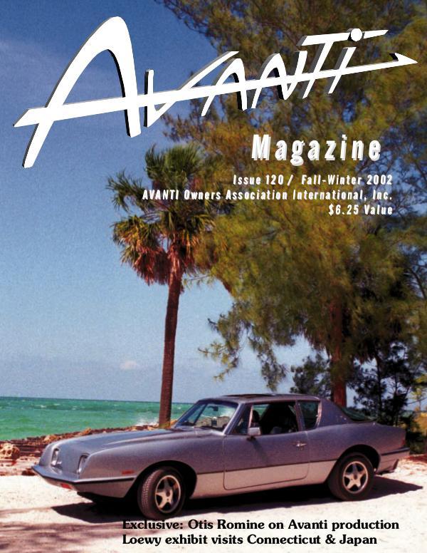 Avanti Magazine Fall/Winter 2002 #120