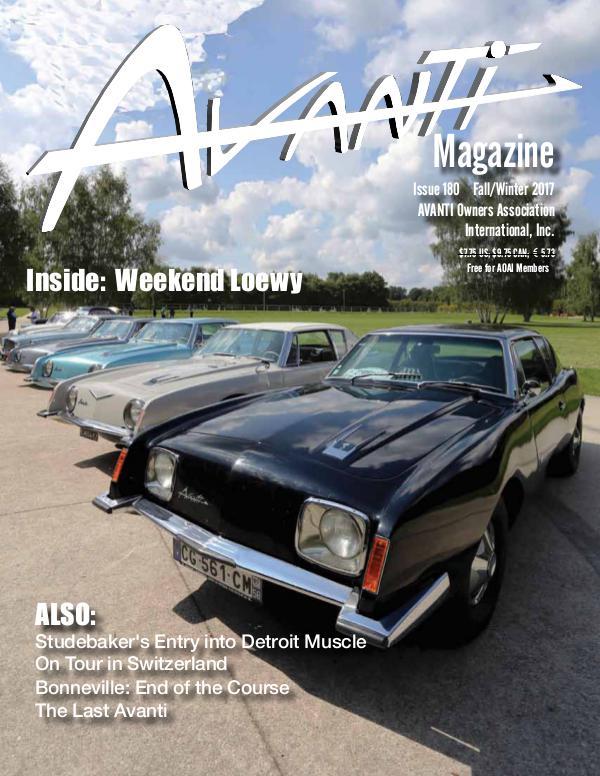Avanti Magazine Fall/Winter 2017 #180