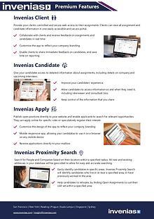 Invenias Premium Features Datasheet