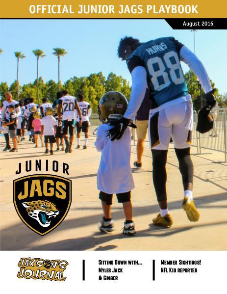 Jacksonville Jaguars Junior Jags Playbook Junior Jags August 2016
