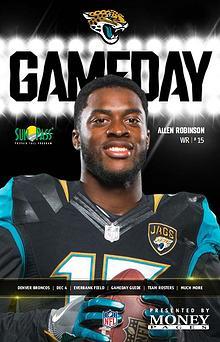 Jacksonville Jaguars Gameday Newsletter