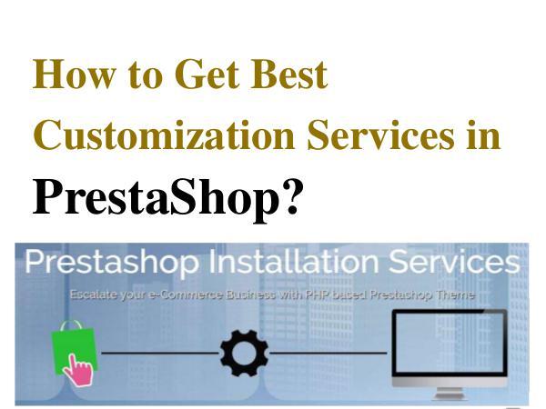 PrestaShop E-Commerce Design Services PrestaShop Ccommerce Design Services