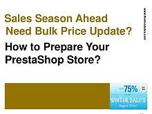 Mass Price Guide for PrestaShop