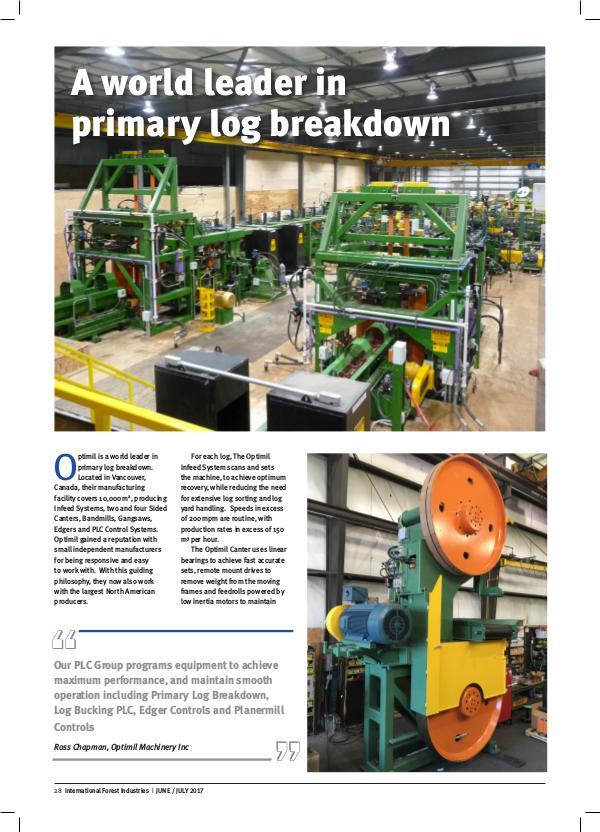 Optimil Lumber Processing Solutions Optimil Lumber Processing Solutions
