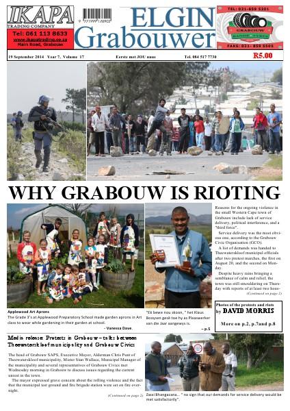 ELGIN Grabouwer Year 7 Volume 17 for Newsstand International