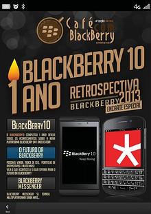 Café com BlackBerry