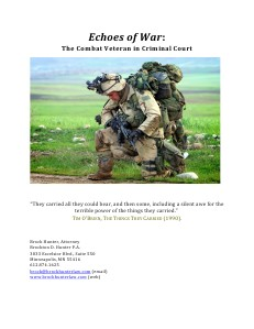 SBAND Seminar Materials 2013 Free Ethics: Echoes of War The Combat Veteran