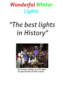 The Wonderful World of Lights ~ Richmond 2012