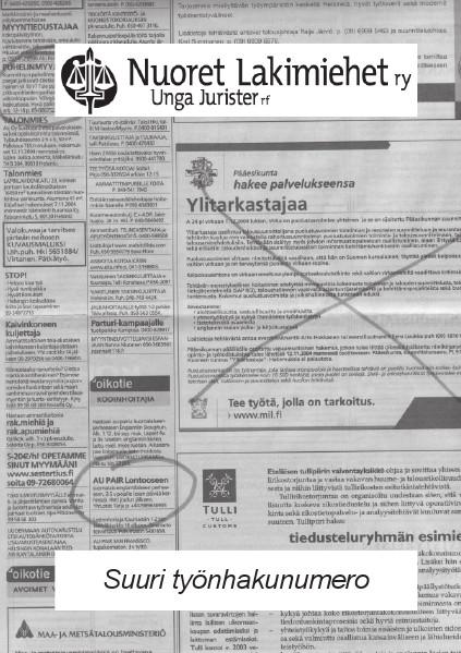 Nuoret Lakimiehet 3/2004 - Suuri työnhakunumero