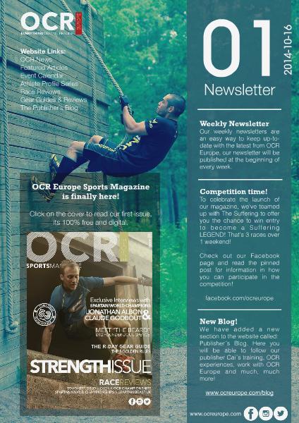 OCR Europe Newslettter Week 42