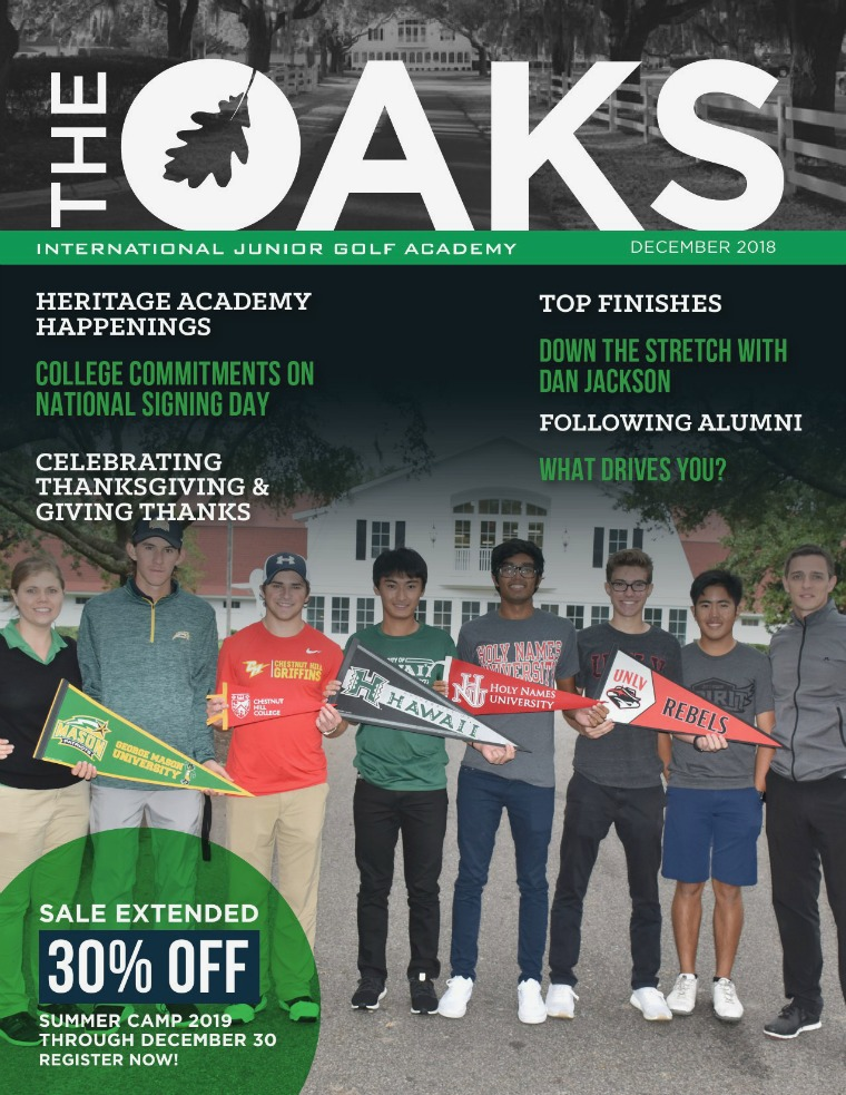 IJGA Newsletter: The Oaks December 2018
