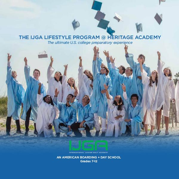 IJGA Lifestyle Program @ Heritage Academy IJGA Lifestyle Program @ Heritage Academy