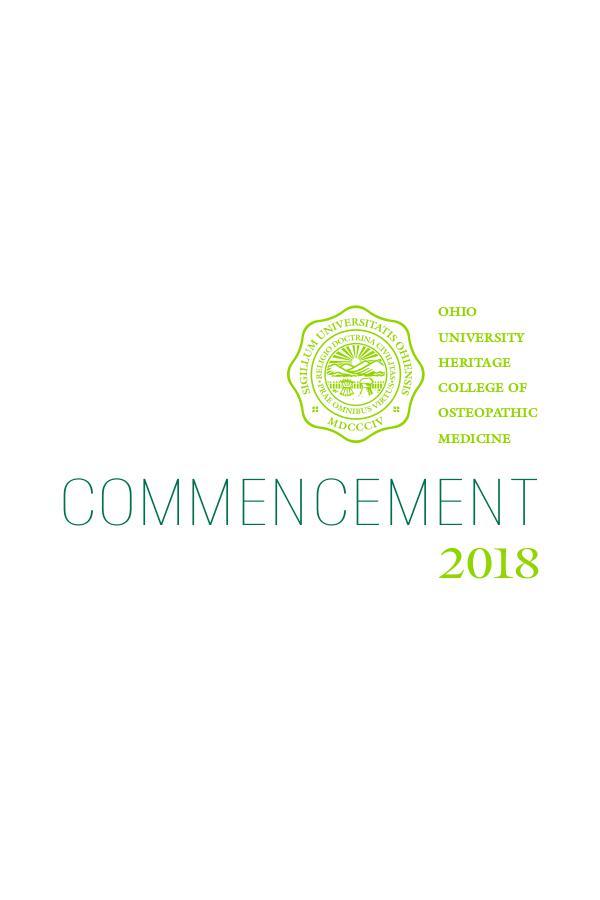 Commencement 2018