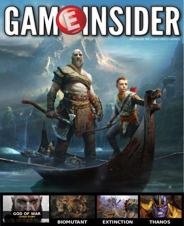 Game Insider - God of War Cover Story GAMEINSIDER - God of War Cover Issue
