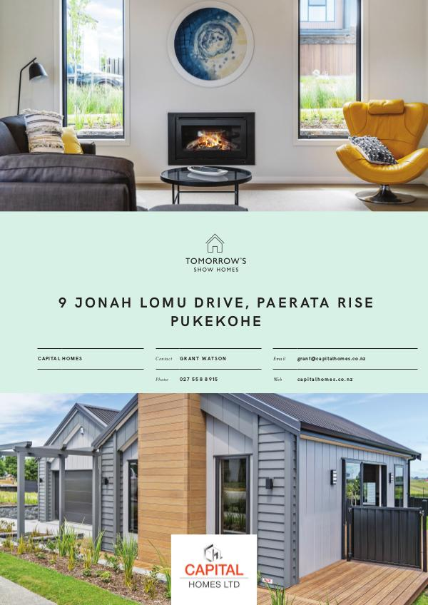 Tomorrow's Show Homes 9 Jonah Lomu Drive, Paerata Rise, PUKEKOHE